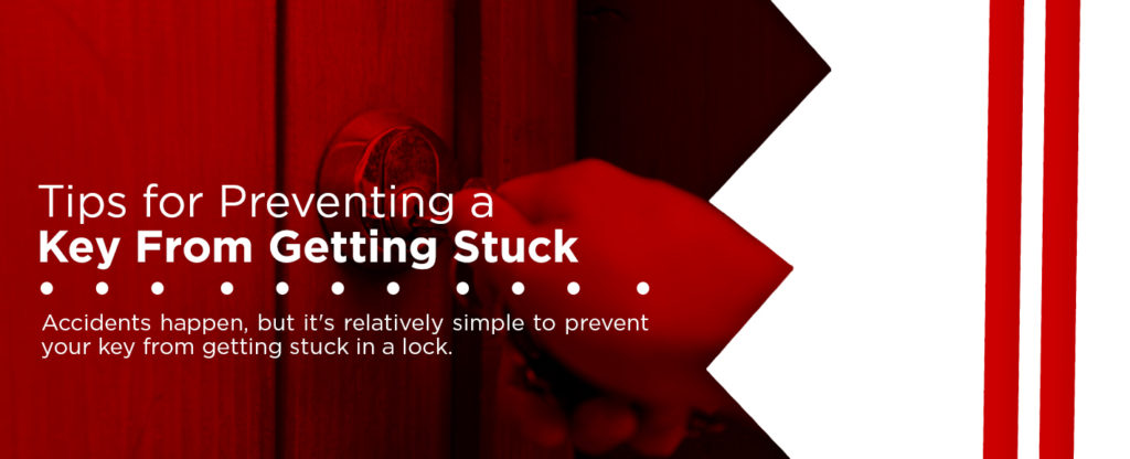 tips for preventing a key from getting stuck