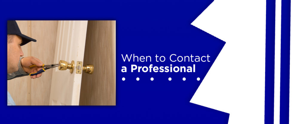 when to contact a professional